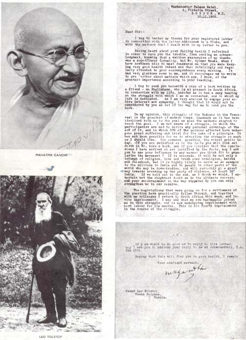 ผลการค้นหารูปภาพสำหรับ leo tolstoy letter to gandhi